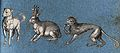 A dog, a hare-like animal and a monkey Wellcome V0021423.jpg