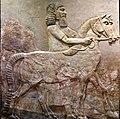 A horse and an Assyrian groom, from Khorsabad, Iraq. Iraq Museum.jpg