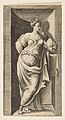 A muse standing in a niche, left arm resting in a ledge MET DP812751.jpg