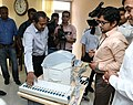 A political party delegation conducting a 'Mock Poll' on the EVM machine, in New Delhi on June 03, 2017.jpg