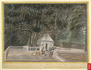 A small temple beneath the Bodhi tree, Bodh Gaya, c. 1810