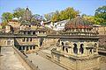 A temple in Maheshwar on Narmada river Madhya Pradesh India.jpg