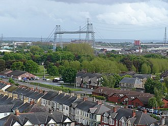 Pillgwenlly - View over Pill, from the Royal Gwent Hospital