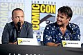 Aaron Paul & Luke Hemsworth (48452505027).jpg