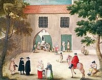 Abbey of Port-Royal, Distributing Alms to the Poor by Louise-Magdeleine Hortemels c. 1710