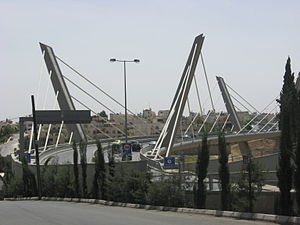 Transport in Jordan - The Abdoun Bridge connecting east and west Amman