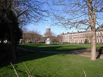 Parks and open spaces in Liverpool - Image: Abercromby Square and Metropolitan Cathedral Liverpool