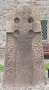 Pictish stone monumental stele, generally carved or incised with symbols or designs