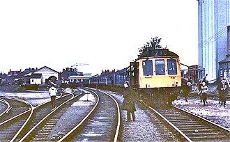 Abingdon railway station - Abingdon 1970 - brewery maltings to right