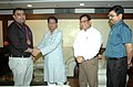 Ace Indian shooter and Olympic medal winner Gagan Narang meeting the Union Minister for Civil Aviation, Shri Ajit Singh, in New Delhi. The CMD, Air India, Shri Rohit Nandan and the Joint Secretary.jpg