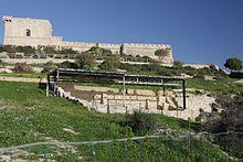 Acropoli di Licata con lo sfondo Castel Sant'Angelo