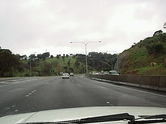 South Eastern Freeway - Image: Adelaide–Crafers Highway 1