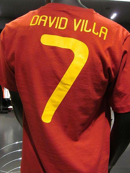 Camisa que Villa usou durante a Copa de 2010. d42e90f441661
