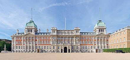 "The Admiralty Extension (which is also one of the two buildings which are sometimes referred to as the ""Old Admiralty"") dates from the turn of the 20th century. Admiralty Extension from Horse Guards Parade - Sept 2006.jpg"