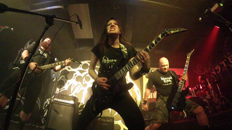 Adorned in Ash live at Zeplins Club in 2014