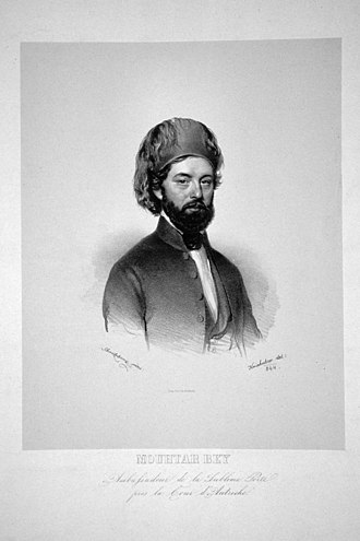 Ottoman clothing - Image: Ahmed Mouhtar Bey Litho