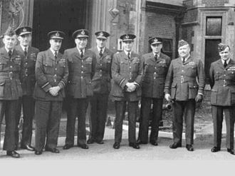 Brian Edmund Baker - Air Vice-Marshal Baker, first from left, at RAF Coastal Command, Northwood, World War II