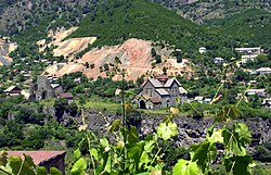 Akhtala with the monastery and fortress