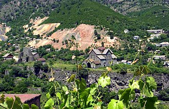 Akhtala - Akhtala with the monastery and fortress