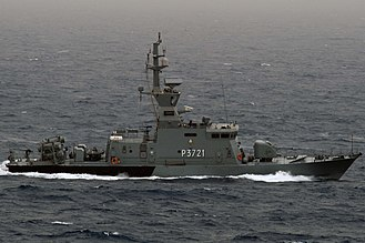 Sea Skua - Four Sea Skua canisters can be seen on the stern of Kuwaiti FAC Al Fahaheel (P3721) in May 2013