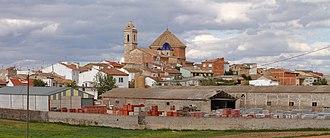 Alborea - Image: Alborea, vista panorámica desde el sur de la población