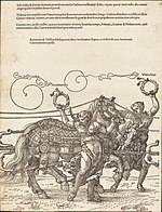 Albrecht Dürer, The Triumphal Chariot of Maximilian I (The Great Triumphal Car) (plate 6 of 8), 1523 (Latin ed.), NGA 57608.jpg