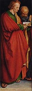 """Die Vier Apostel,links: """"Johannes und Petrus"""", 1526,Alte Pinakothek,München (Quelle: Wikimedia)"""