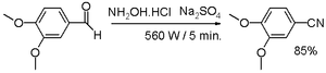 Nitrile - one-pot synthesis from aldehyde
