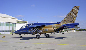 PoAF Alpha-Jet with commemorative painting of the 50th anniversary of 103 Squadron