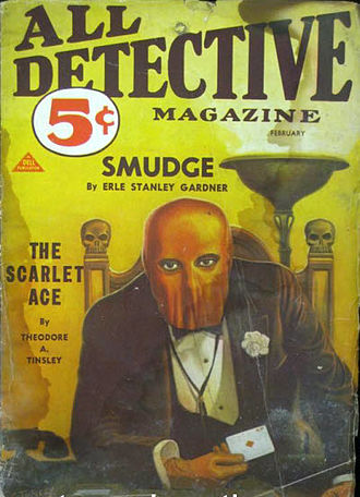 Theodore Tinsley - Tinsley's stories about The Scarlet Ace were published in All Detective Magazine in the early 1930s