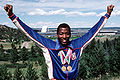 Alonzo Babers with both gold medals - 23rd Olympiad 1984.JPEG