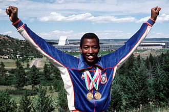1984 Summer Olympics medal table - Alonzo Babers of the United States won gold medals in the 400 meters and the 4 × 400 meter relay.
