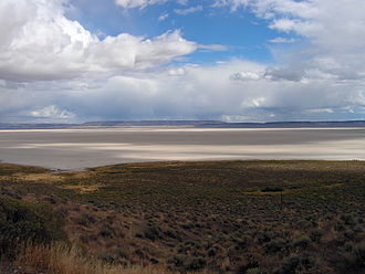 Alvord Desert - View of Alvord Desert from Steens Mountain