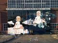Amanda Marie installing her mural, Imaginary Girls, in Amsterdam, June 2013.png