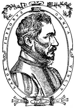 Ambroise Pare (c. 1510-1590), father of modern military surgery. Ambroise Pare 1573.jpg