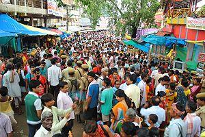 Ambubachi Mela - Gathering of people at Ambubashi Mela at India's Kamakhya Temple