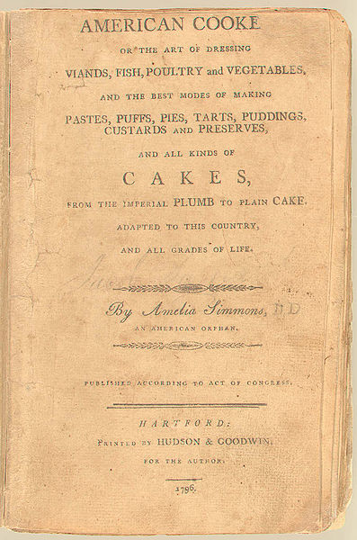 File:American Cookery (1st Ed, 1796, cover).jpg
