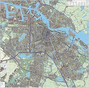 Carte topographique d'Amsterdam