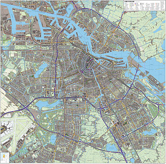 Plan Zuid - Amsterdam, Plan Zuid (in the middle of the map)