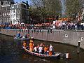 Amsterdam - Koninginnedag 2012 - Herengracht boat.JPG