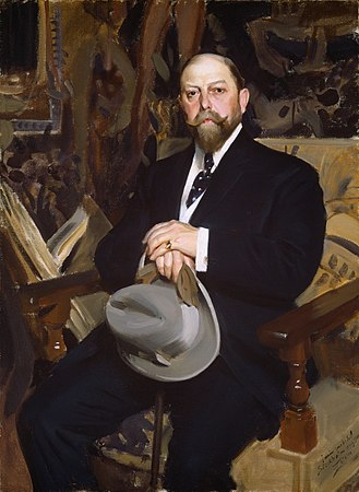 Homburg hat - Hugo Resinger holding a fashionable grey Homburg hat, 1907. Painting by Anders Zorn.