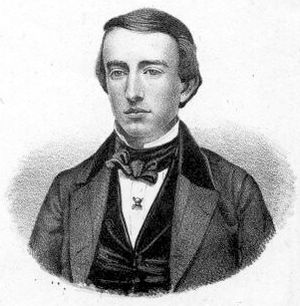 Andrew Dickson White - White as a junior or senior at Yale, wearing his Skull and Bones pin.