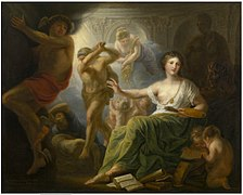 Andries Cornelis Lens - Hercules Protects Painting from Ignorance and Envy.jpg