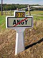 Angy (60), plaque Michelin sur l'ancienne RD 12 à la sortie nord du village.jpg