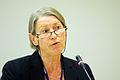 Anna Louise Kirkengen specialist i allmanmedicin talar for Nordiska radets valfardsutskott vid deras mote i Stavanger 2008-04-15.jpg