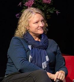 Anna Takanen under ett samtal om skådespeleri med Birgitta Ulfsson och Iwar Wiklander i