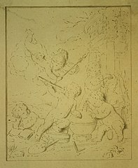 Pen drawing of children
