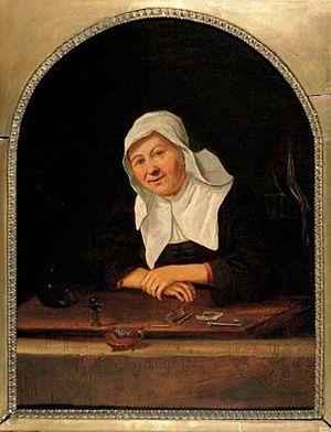 Anthonie Hals - Woman in a window, 1669
