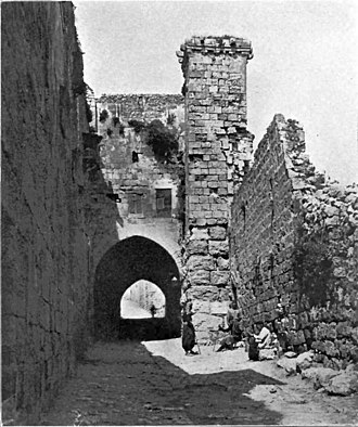 Antonia Fortress - A tower of the Antonia Fortress in 1906