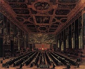 Antonio Diziani - Image: Antonio Diziani The Sala del Maggior Consiglio, Doge's Palace WGA06352
